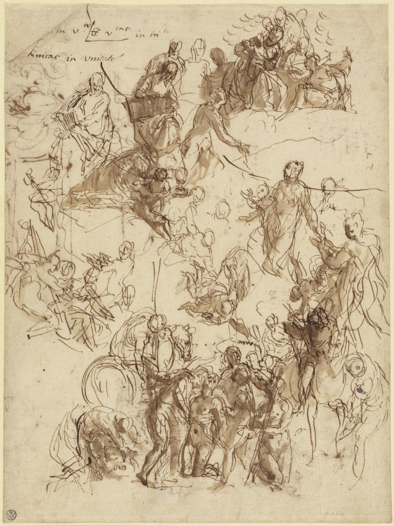 3-37 Veronese, Study for the Martyrdom of St. George, 1566. Pen and ink and wash, 28.9 x 21.9 cm. Getty Museum, Malibu.