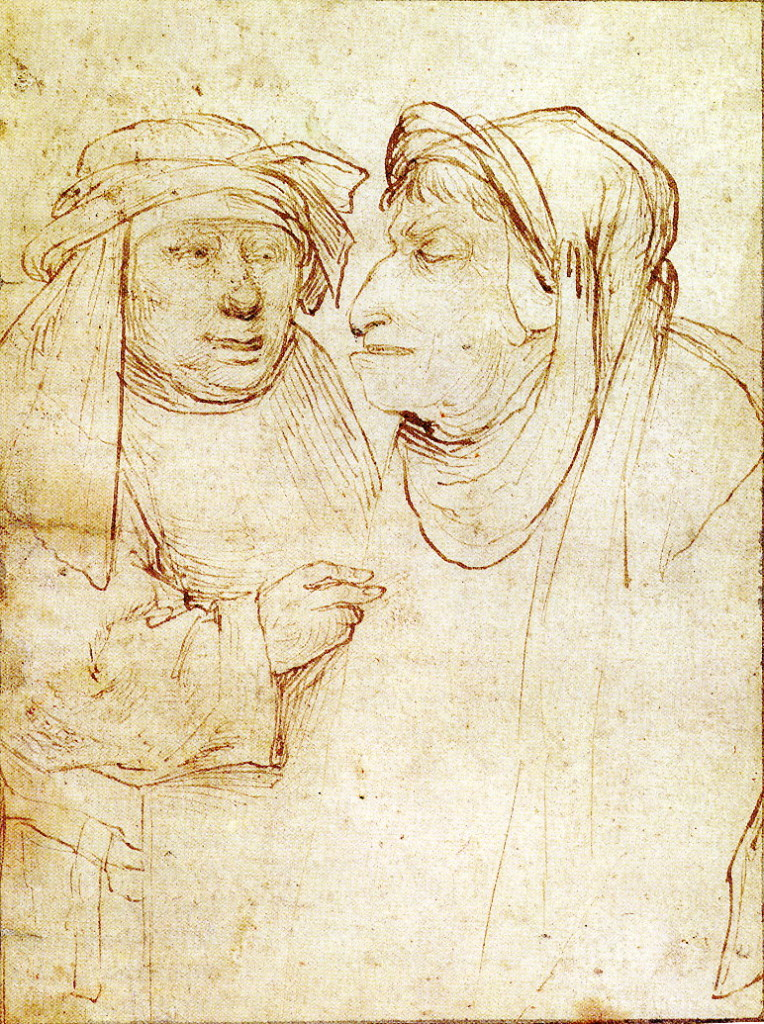 2-26 Hieronymous Bosch, Disreputable Pair. Pen and gray brown ink, 19.3 x 13.7 cm. Lehman Collection, New York.