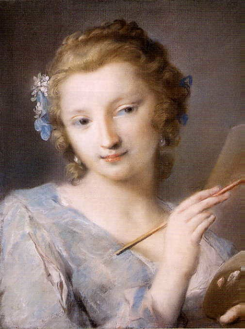 5-6 Rosalba Carriera, Allegory of Painting, ca. 1720. Pastel, 45.1 x 34.9 cm. National Gallery of Art, Washington, D.C.