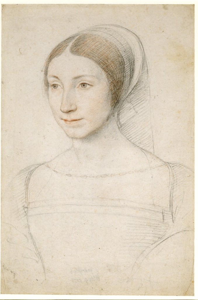2-30 Jean Clouet, Portrait of a Young Woman, ca. 1520-40. Black and red chalk, 28.9 x 19.6 cm. The British Museum London.