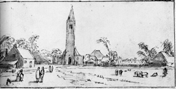 4-41 Esaias van de Velde, Spaarnewoude, ca. 1615. Pen, brown ink, and wash over traces of black chalk, 8.7 x 17.8 cm. Rijksmuseum, Amsterdam.