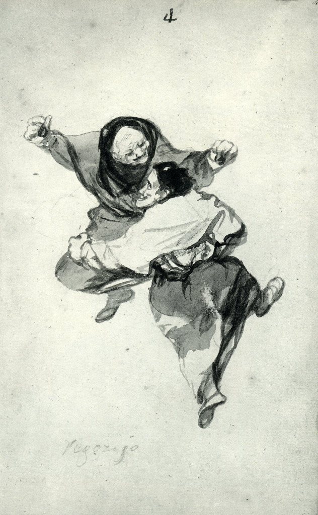 5-49 Francisco Goya, Regozijo (Mirth), Unfinished Album (D), 1819-1823? India ink, 23.7 x 14.7 cm. Hispanic Society of America, New York.