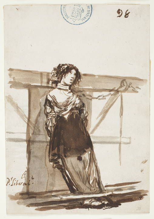 5-48 Francisco Goya, P.r liberal? (For being a liberal?), Album C, 1808-1814? iron gall ink, 20.5 x 14.2 cm. Prado Museum. Madrid,