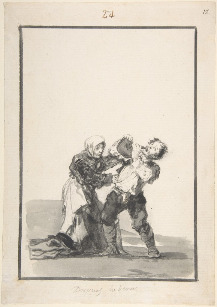 5-50 Francisco Goya, Despues lo beras (You'll see later), Black Border Album (E), 1816-1820? India Ink, 26.6 x 18.7 cm. The Metropolitan Museum of Art, New York.