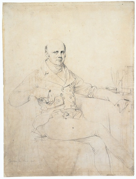 6-3 Jean-Auguste-Dominique Ingres, John Russell, Sixth Duke of Bedford, 1815. Graphite on white wove paper, 39.4 x 29.2 cm. St. Louis, City Art Museum of St. Louis.