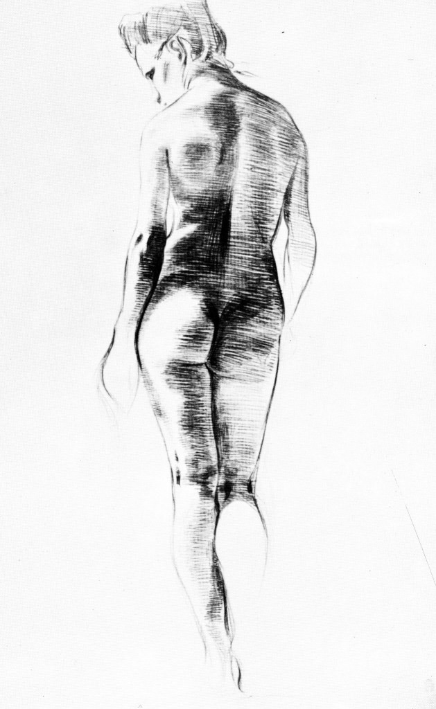Female Nude Seen from the Back, 1899. Pencil, 32.5 x 20.7 cm. Zentrum Paul Klee, Bern.