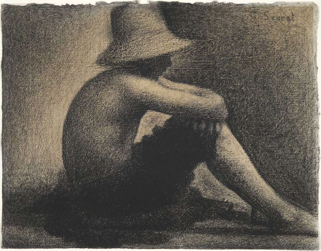 6-41 Georges Seurat, Seated Boy with a Straw Hat, 1882. Conté crayon, 24.1 x 31.1. New Haven, Yale University Art Gallery.