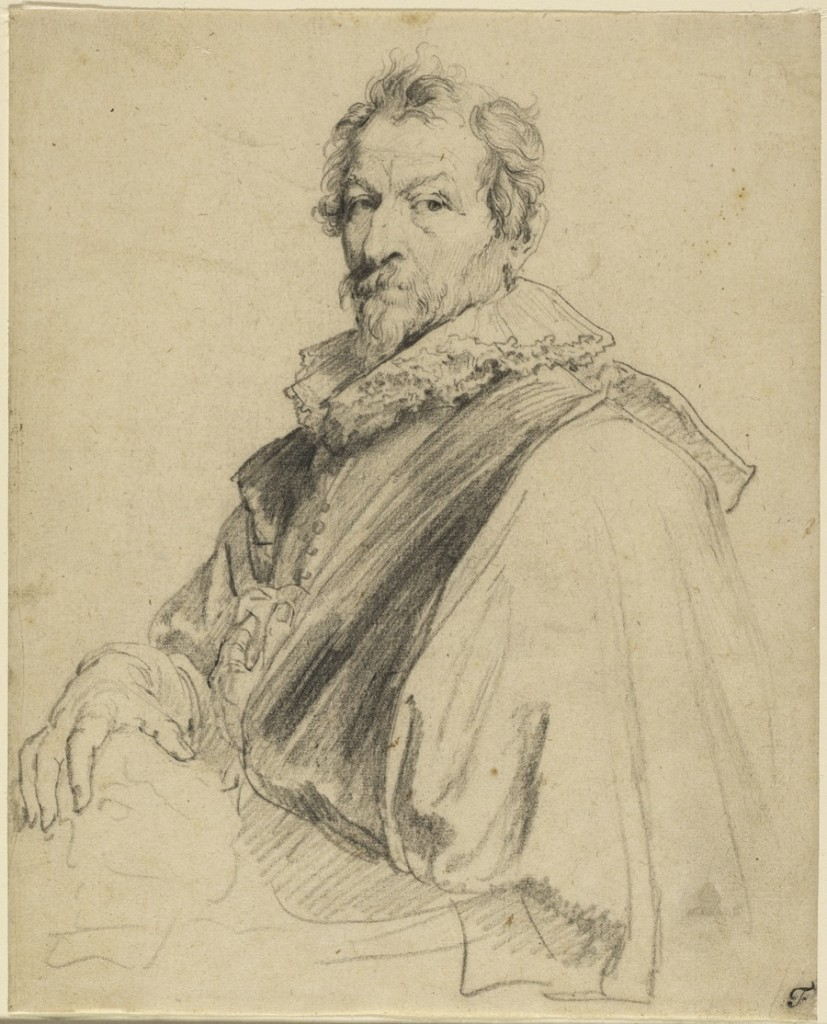 4-36 Anthony van Dyck, Hendrik van Balen, between 1627 and 1632. Black chalk, 24.3 x 19.8 cm. J. Paul Getty Museum, Malibu.