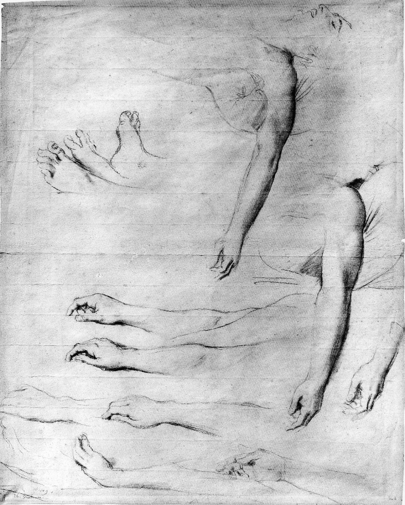 6-2 Jean-Auguste-Dominique Ingres, Study for 'Antiochus and Stratonice', 1840. Black chalk, stomped, 48 x 37.7 cm. Montauban, Musée Ingres.